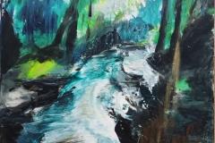 Nr. 330, Wasserfall, 60x60