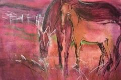 Kunst-Mischtechnik-Pferde-20_35-60x80-Kronart