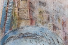 Kunst-Pastell-Milenium-Park_Bean-20_14-40x55-Kronart